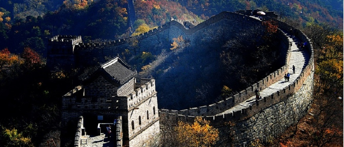 Mutianyu Great Wall, which is regarded as the most beautiful section of the great wall.