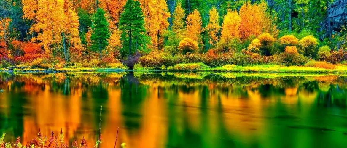 Jiuzhai Valley is a world of fairy tale in Autumn as you will see dreamy color and reflection.
