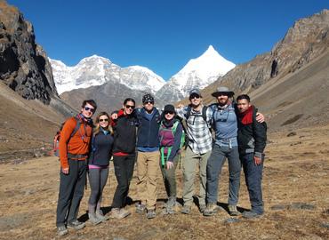 Mt. Jumolhari in the background.