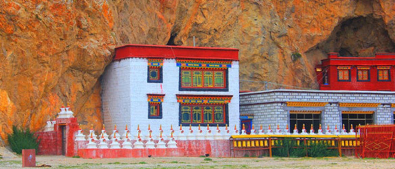 Tashi Dor Monastery located on Tashi Dor Peninsular.