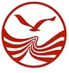 This logo represents the growth of the company in adversity with a petrel flying over the sea.