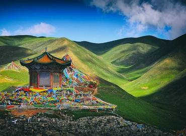 In the Tibetan language and Mongol, Mt. Sun and Moon means the place with sun and moon.