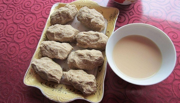 Tsampa is one of the traditional staple foods in Tibet.