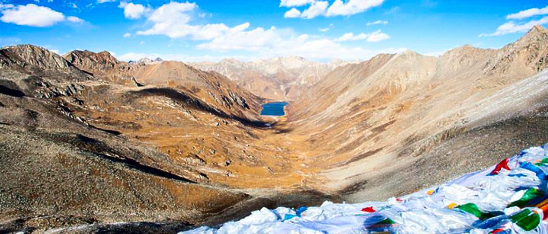 Far view of Lhamo La-tso.