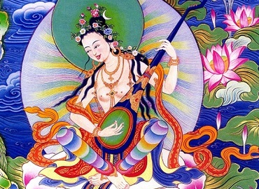 Thangka is a traditional Tibetan painting art form.