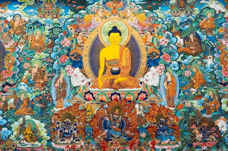 Tibetan thangka has distinct national characteristics, strong religious color, and unique artistic style.
