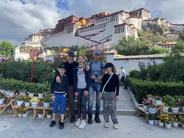 Family photo at Potala Palace