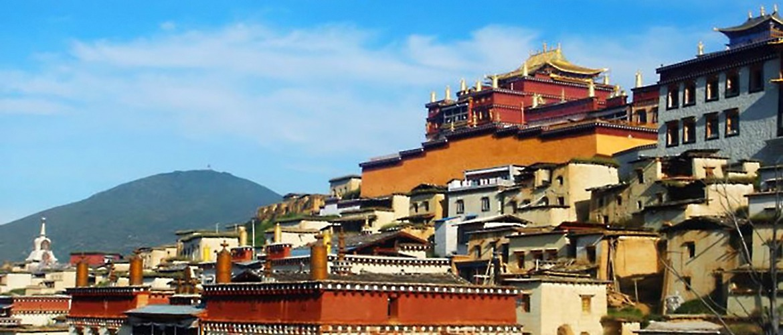 Closer look at grand Tsurphu Monastery.