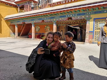 With lovely Tibetan Children.