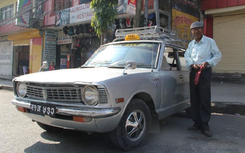 The taxi driver in Kathmandu
