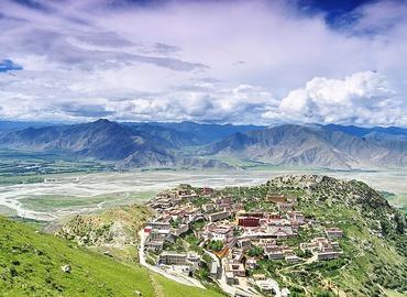 One of the top three Monasteries in Tibet - Ganden Monastery.