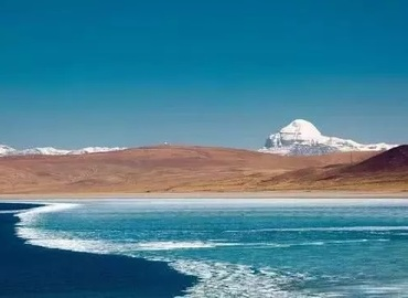 Holy mountain Kailash is next to sacred lake Manasarovar.