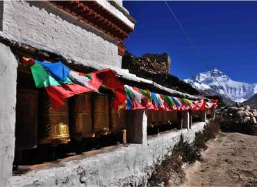 Rongbuk Monastery is the highest monastery in the world.