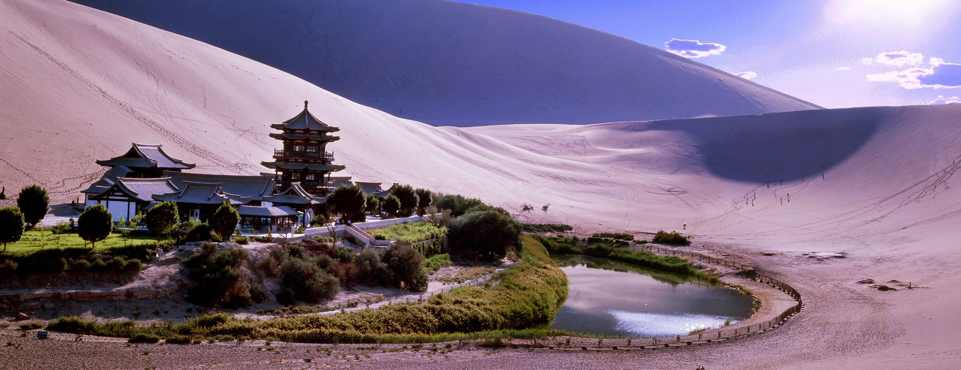 Mingha Sand Dunes and Crescent Moon Spring