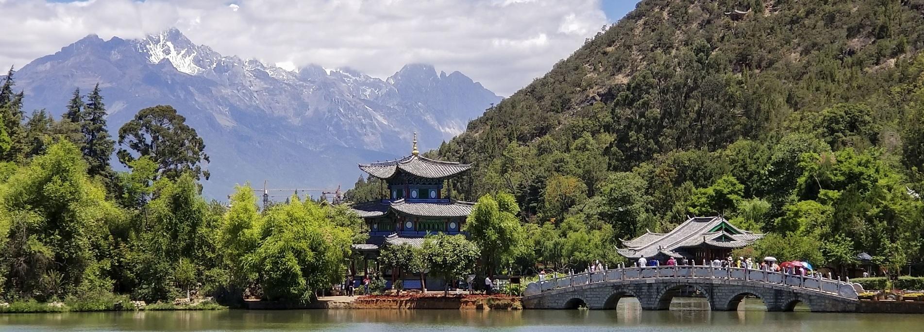 Black Dragon Pool park in Lijiang