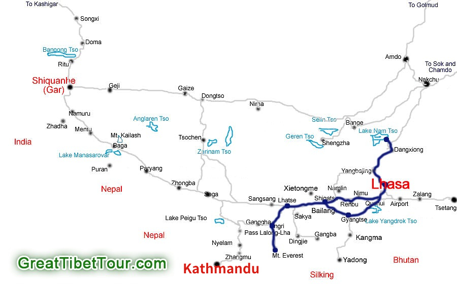 Lhasa-Everest-Namtso-Tour