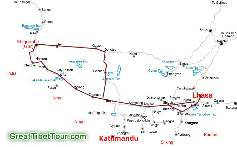 Ngari Loop with Mt Kailash Kora Tour