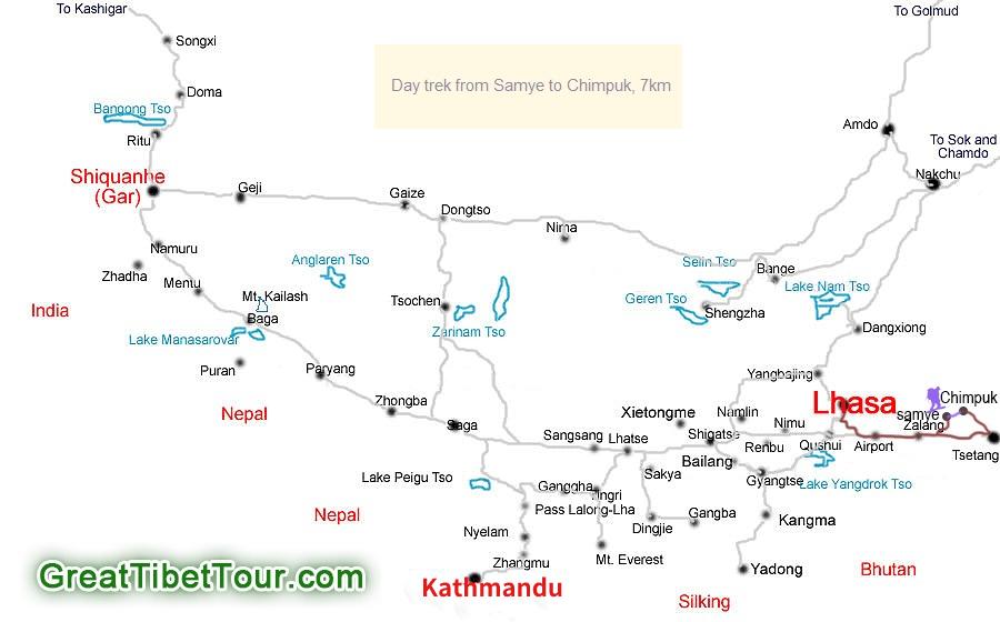 Map of Chimpuk Hermitage Trekking Tour