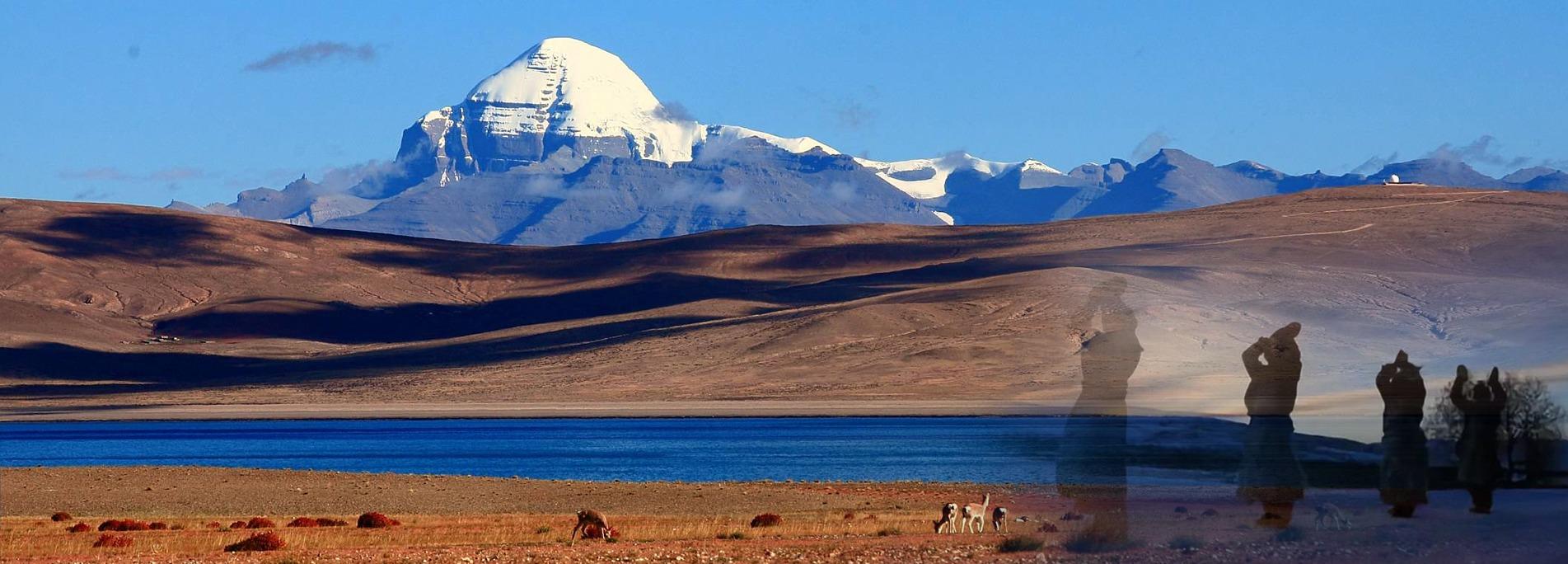 Mt.Kailash attracts numerous pilgrims.