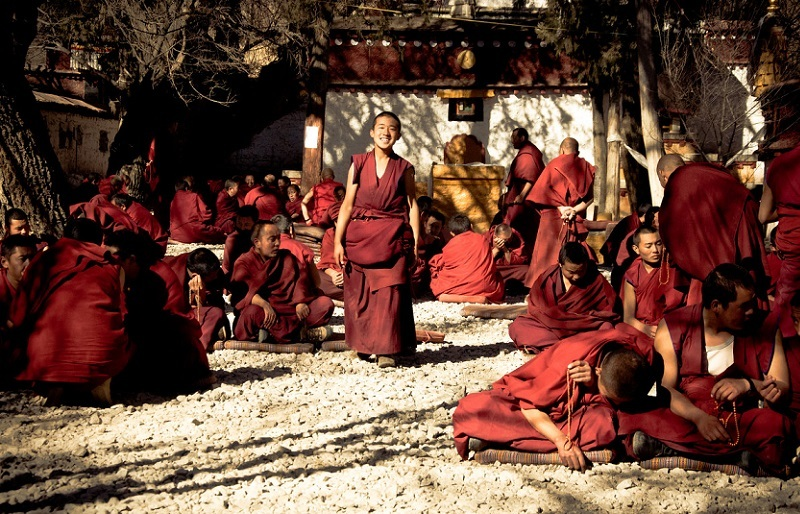 Tibetan robes