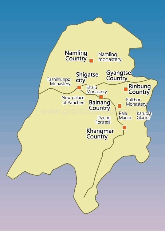 Tourist attractions and counties nearby