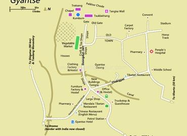 Gyantse Map