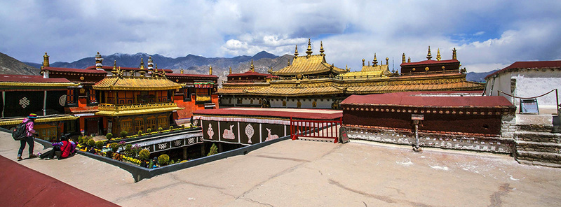Jokhang Temple located in Lhasa, the capital of Tibet, and is recognized as the holiest temple in Tibet.