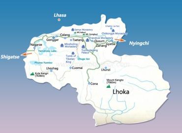 Lhoka map