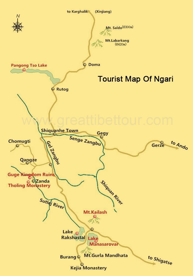 Map of Ngari.