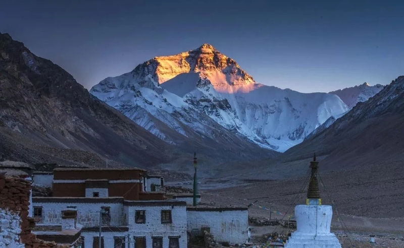 Rongbuk Monastery is the highest monastery in the world, and it was built in the 20thcentury.