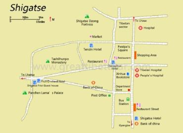 Shigatse map