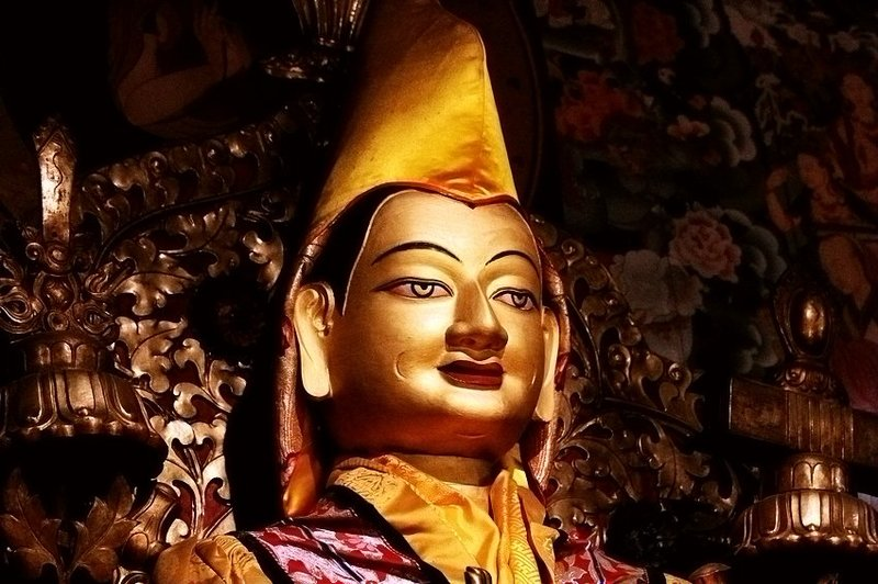 Tsongkhapa- the founder of Gelug sect.