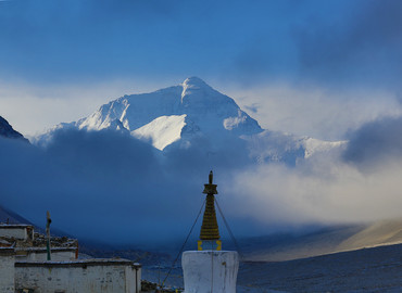 Mt. Everest and Rongbuk Monastery
