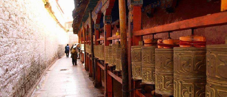 Prayer wheels outside of Ramoche Temple