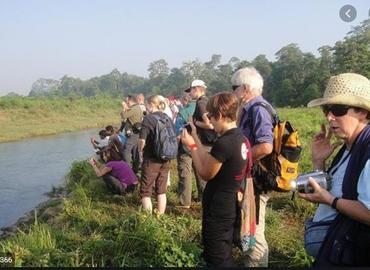 Nature safari at Chitwan.