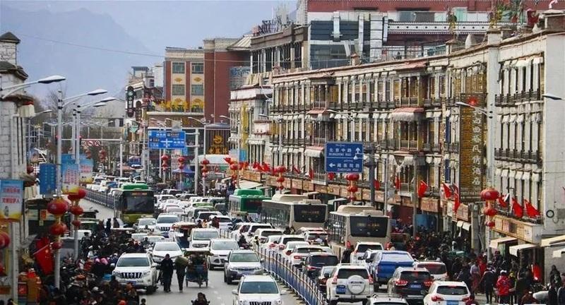 Lhasa downtown