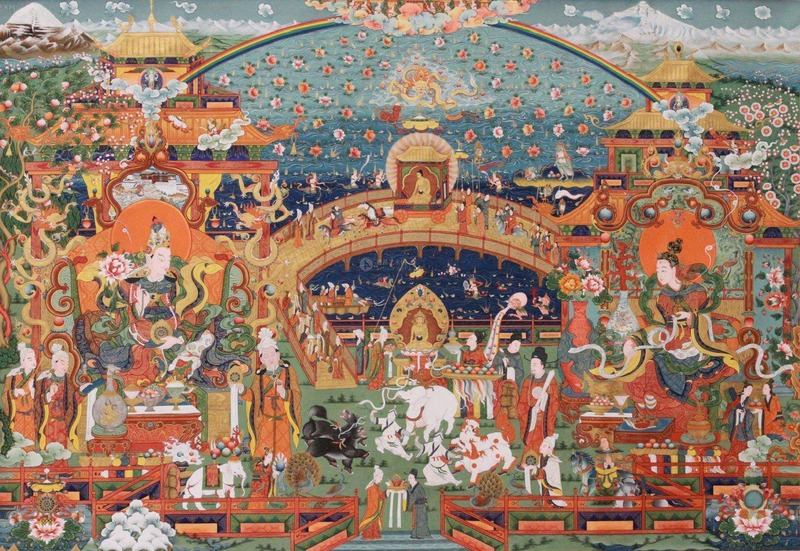 Lhasa's history is associated with Buddhism.