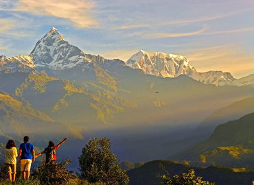 Enjoy the panorama of the Himalayas.