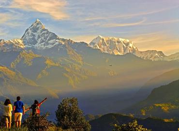 Enjoy the panorama of the Himalayas.
