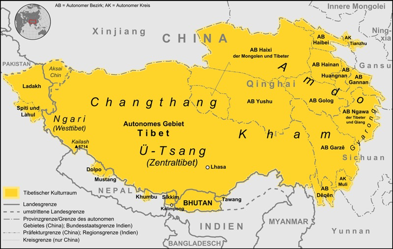 Where is Kham tibet on the map