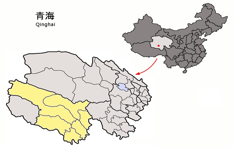 map of Yushu
