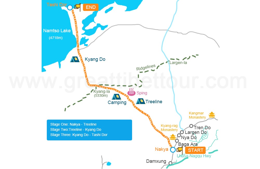 Nyenchen Tanglha to Holy Lake-Namtso Trek