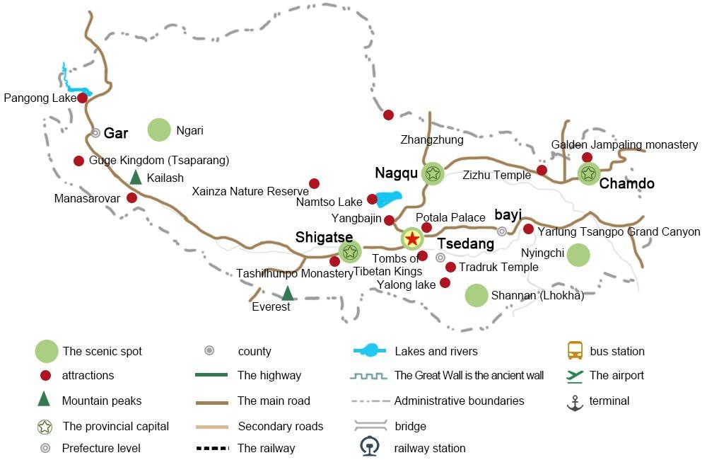 Tibet Road Map