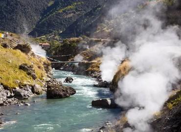 hot springs in Cuopu Valley