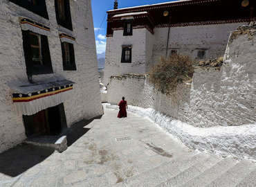 Drepung Monastery is the highest-ranking monastery in the Gelug Sect.