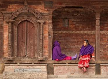 Local women at Durbar Square