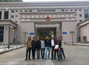 A group of our travelers at Gyirong Port.
