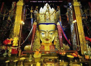 Maitreya Buddha Statue enshrined at Tashilhunpo Monastery.