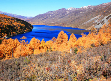 Mugecuo Lake in Autumn