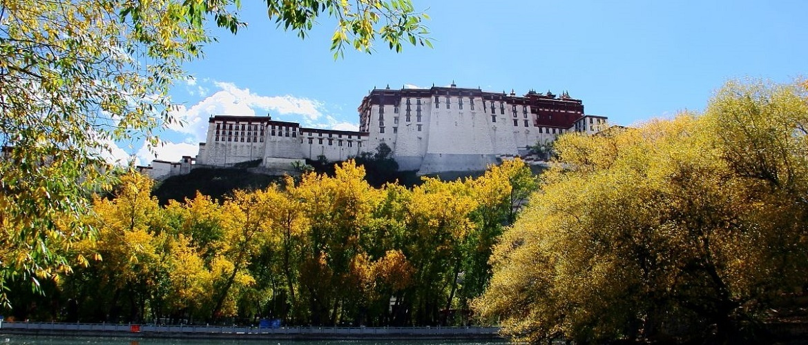 The back side of the Potala Palace
